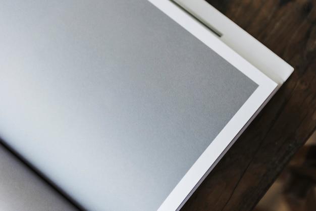 Espaço de design na página da revista