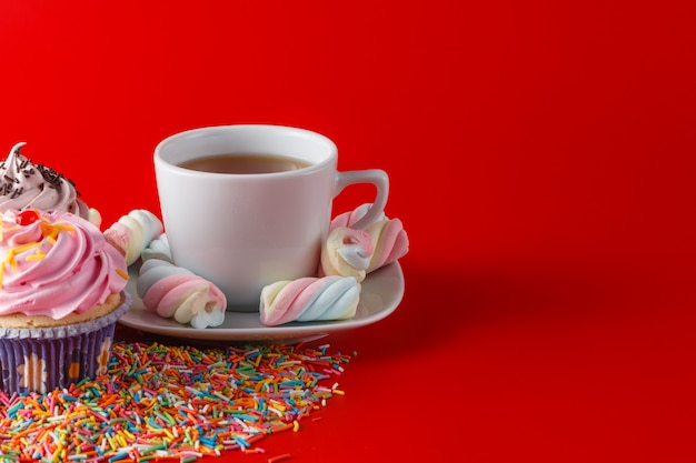 Espaço de sagacidade colorido marshmallow torcido para texto