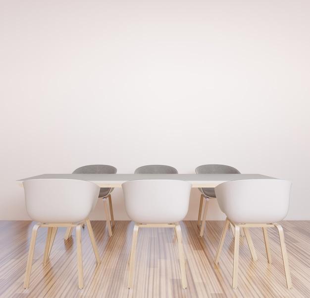 Espaço de trabalho conjunto, sala de reuniões, parede de brainstorming para espaço de trabalho