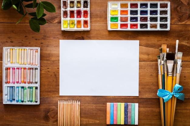Espaço de trabalho criativo artístico