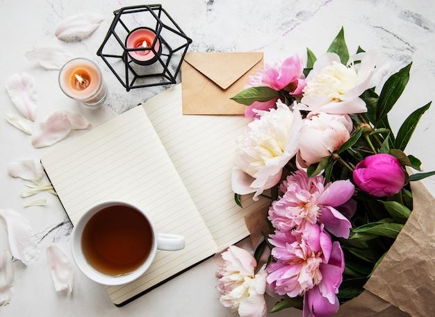 Espaço de trabalho do blogger ou freelancer