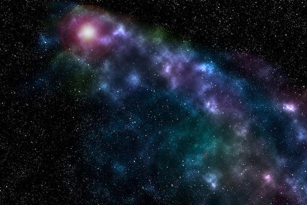Espaço e céu estrelado. galáxia e a via láctea. planetas e poeira cósmica. imagem da galáxia