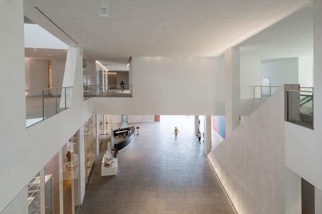 Espaço interior do centro cultural e de arte, um centro cultural e de arte em shenzhen, china