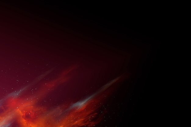 Espaço nebulosa abstrata colorida