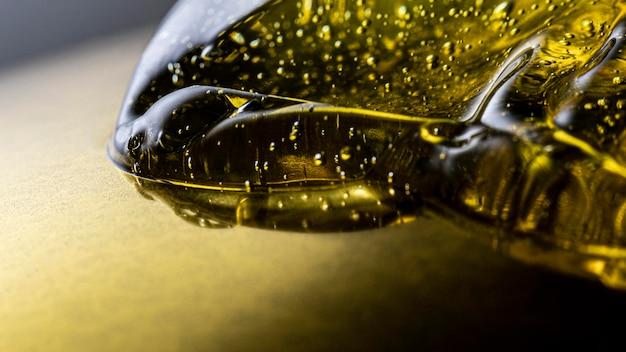 Espaço para cópia de gel desinfetante de mãos extremamente close-up