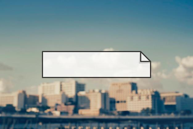Espaço para cópia em branco da etiqueta do banner do crachá