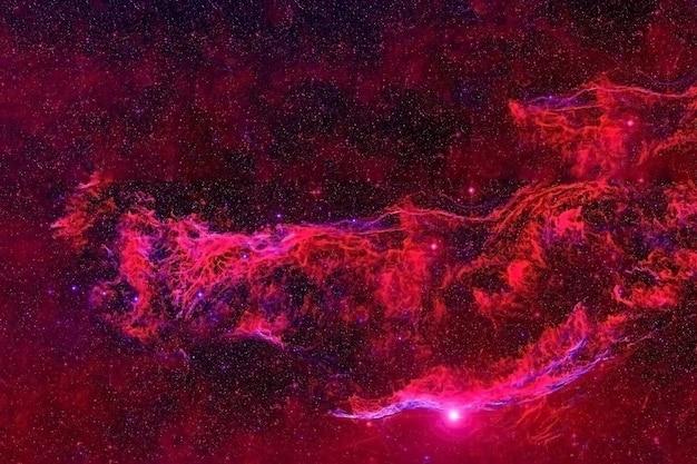 Espaço profundo da galáxia vermelha com as estrelas os elementos desta imagem foram fornecidos pela nasa