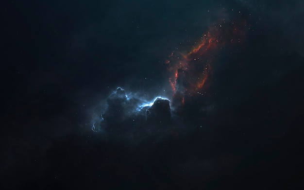 Espaço profundo. papel de parede de ficção científica, planetas, estrelas, galáxias e nebulosas em uma imagem cósmica incrível. elementos desta imagem fornecidos pela nasa