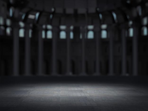 Espaço vazio com fundo desfocado santuário