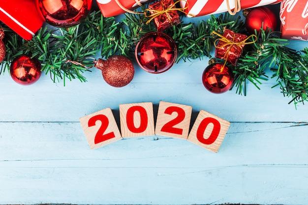 Espaço vazio cópia para inscrição. ideia de feliz ano novo de 2020 férias.