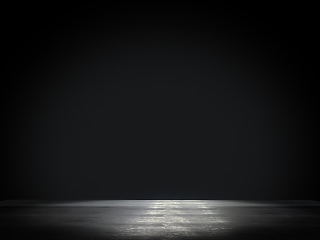 Espaço vazio, produto vitrine holofotes sobre fundo. renderização em 3d