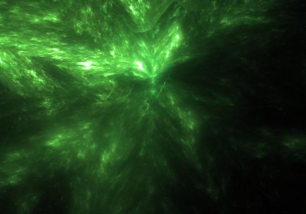 Espaço verde fundo universo