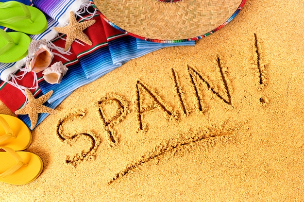 Espanha praia escrita