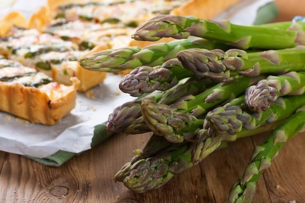 Espargos para torta salgada de aspargos caseiros