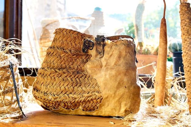 Esparto halfah grama usada para artesanato como cestaria de cordas