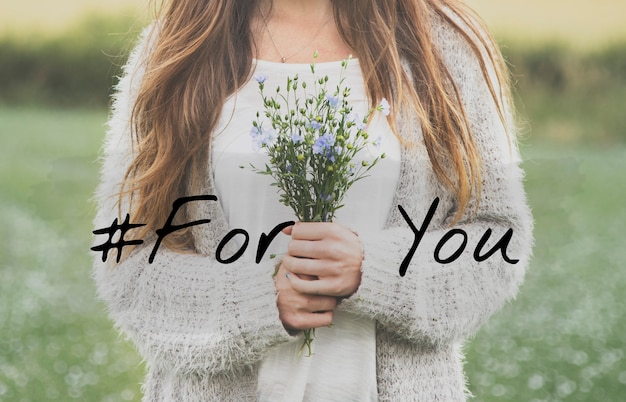 Especial para você palavras de frase de flor