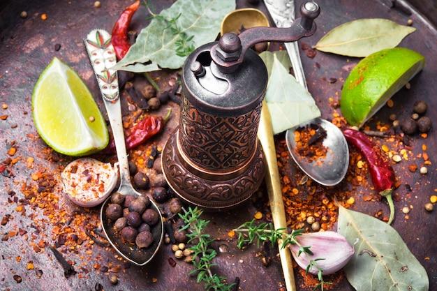 Especiarias e ervas para cozinhar