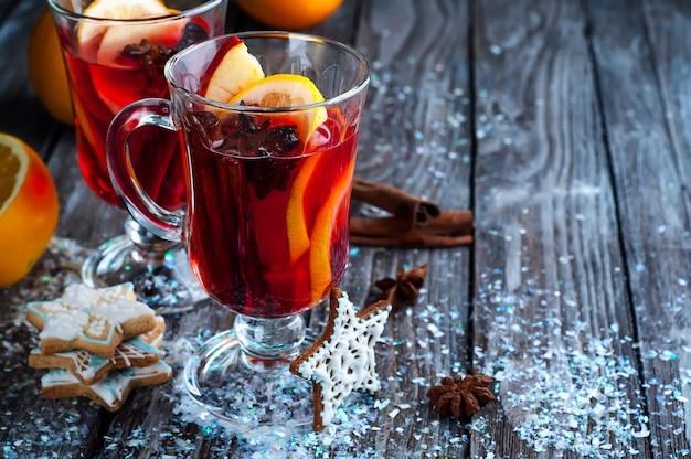 Especiarias e vinho quente