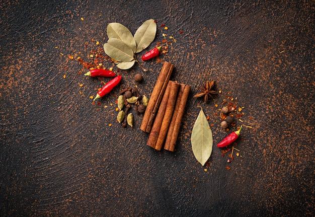 Especiarias masala para cozinhar pratos indianos