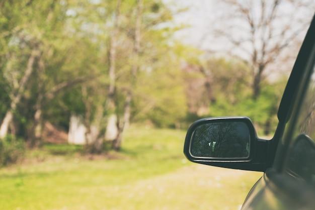 Espelho retrovisor do carro