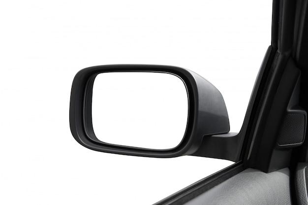 Espelho retrovisor em branco