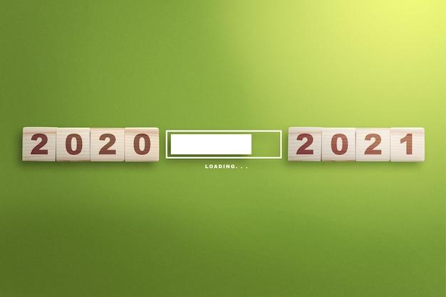 Esperando de 2020 a 2021. feliz ano novo 2021