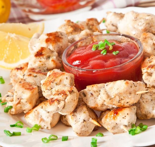 Espetos de frango