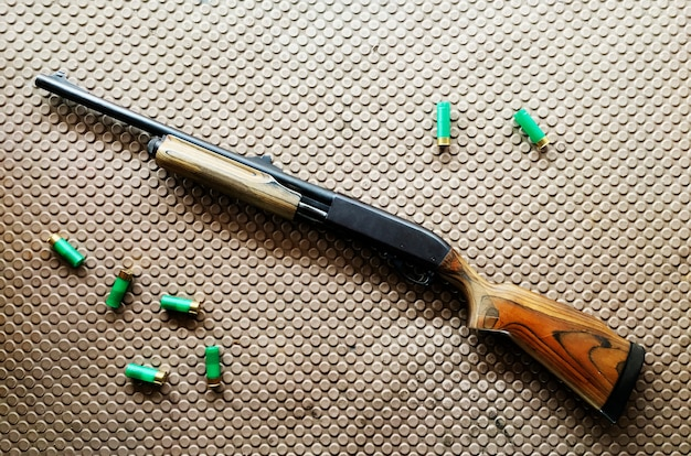 Espingarda e balas