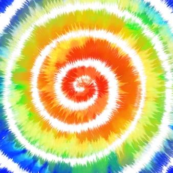 Espiral colorida arco-íris tie dye
