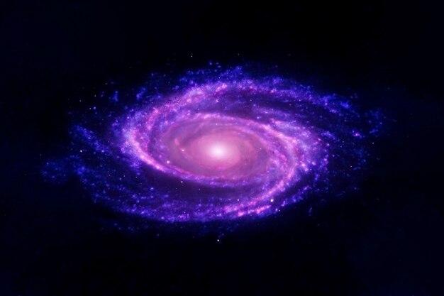 Espiral da galáxia azul. os elementos desta imagem foram fornecidos pela nasa. foto de alta qualidade