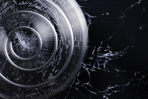 Espiral de metal. o conceito de voltas sem fim. proporção áurea. o conceito de memórias e percurso de vida.