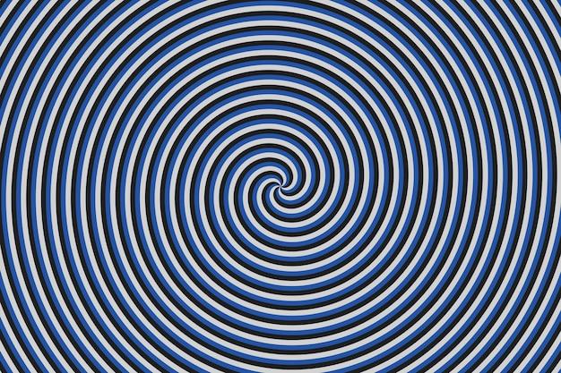 Espiral hipnótica de ilusão de ótica abstrata renderização 3d de fundo