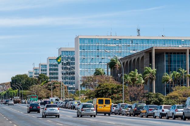 Esplanada dos ministérios brasilia distrito federal brasil em 14 de agosto de 2008