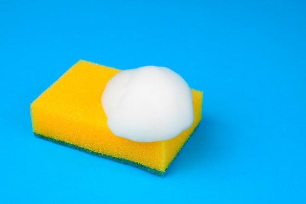 Esponja de cozinha azul