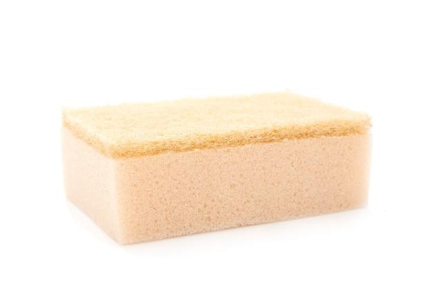 Esponja de cozinha em recorte branco