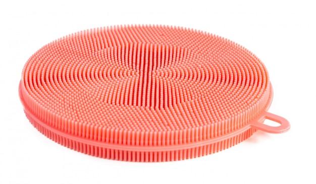 Esponja de silicone rosa para cozinha