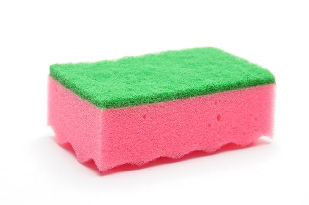 Esponja para lavar louça e canalização isoladaxa