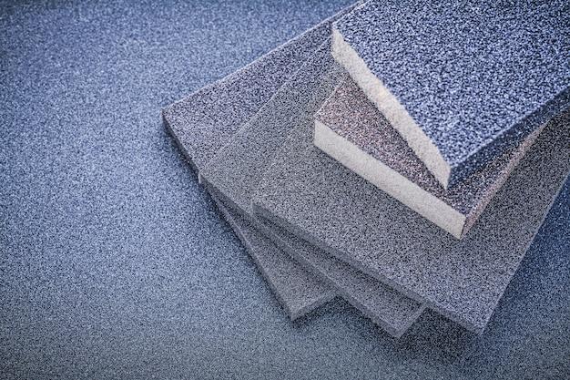 Esponjas abrasivas para lixar na vista superior da lixa