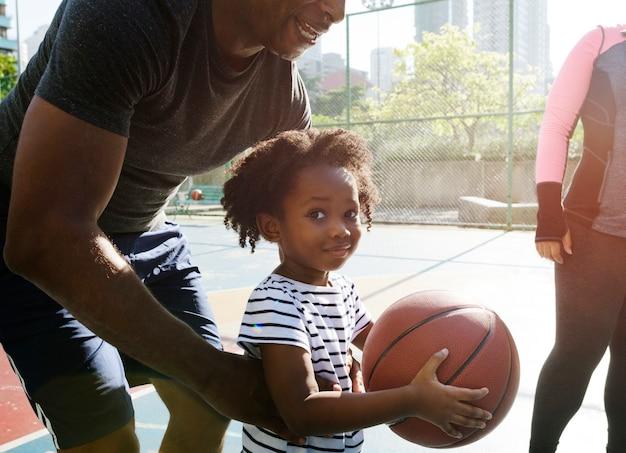 Esporte de basquete exercício atividade lazer Foto Premium