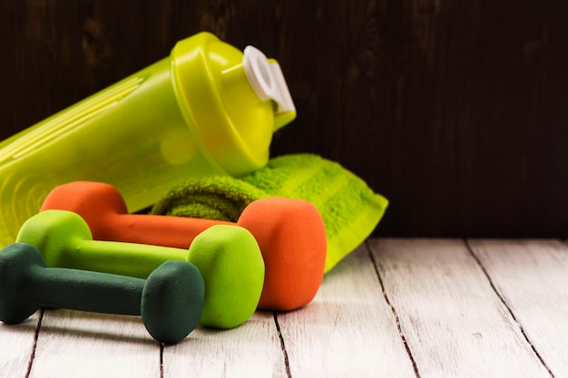 Esporte familiar ou conceito de perda de peso
