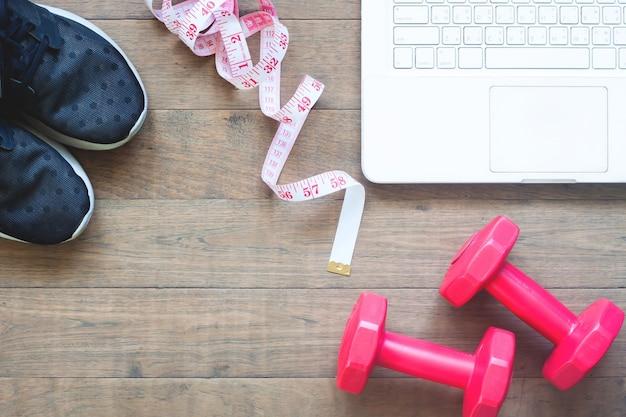 Esporte vermelho, sapatos, sala, exercício, estilo de vida, verão
