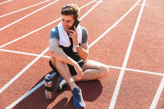 Esportista terminou de correr no estádio