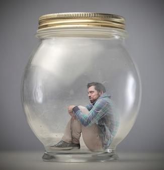 Espremido em uma jarra
