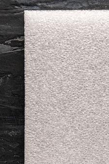 Espuma branca. plano de fundo texturizado, com uma bela textura tridimensional. folha, vista superior.