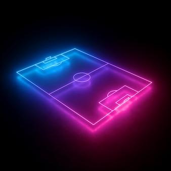 Esquema de campo de futebol de neon