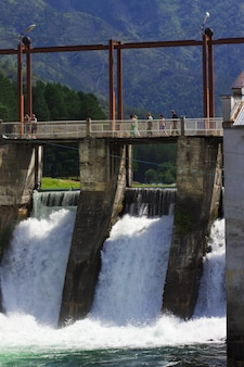 Estação de energia hidrelétrica