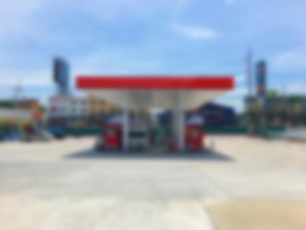 Estação de gás combustível borrão