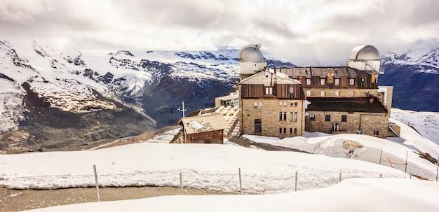Estação de gornergrat e matterhorn, zermatt, suíça