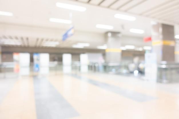 Estação de metrô abstrata borrão