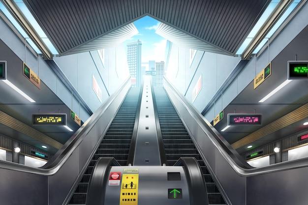 Estação de metrô - dia